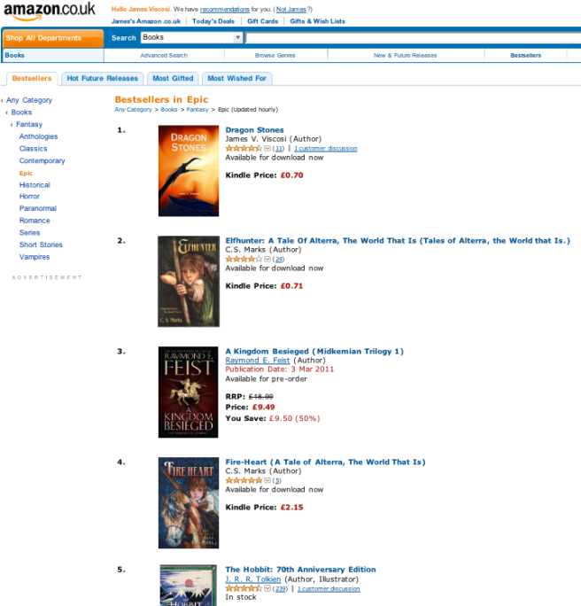 Dragon Stones Reclaims The #1 Spot On The Epic Fantasy Chart